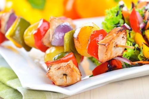 Krásné a chutné kuřecí kebab