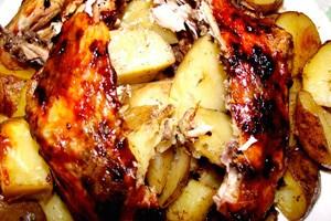 Картофено пълнено пиле