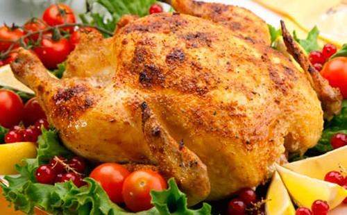 Пиле с чери домати и френско грозде