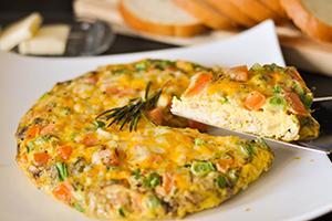 Lahodná italská Frittata jako vejce Jellied Pie