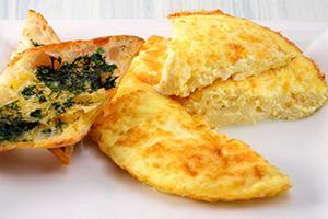 Omeleta souffle s krutony