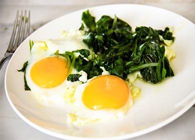 Omeleta se špenátem  zmrazené, recept, foto