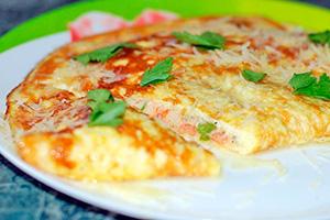Omeleta s rajčaty