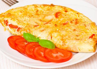 Омлет с домати в чиния