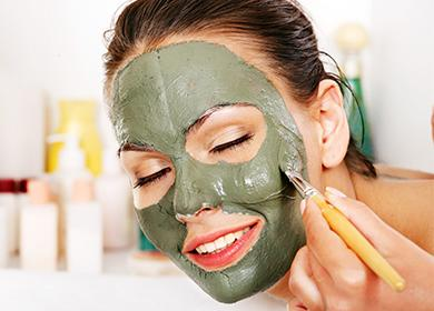 Синя глина маска за лице за бръчки, акне и старчески петна