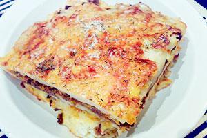 Bramborový brambor ala lasagna