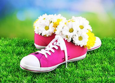 Květiny v teniskách