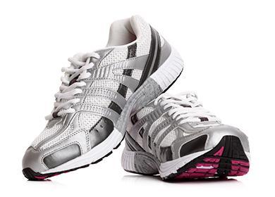 Bílé sportovní boty