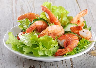 Salát s greeny a krevety