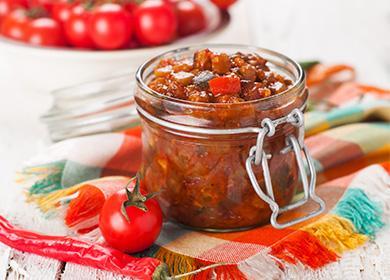 Тиквички в домат в буркан