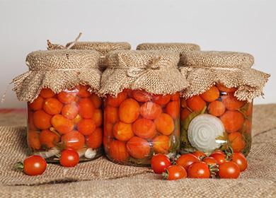 Чери домати в буркан