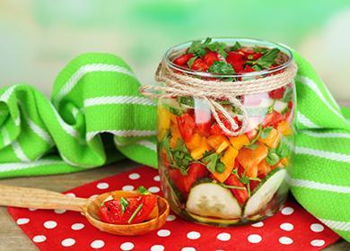 Zeleninový salát na zimu