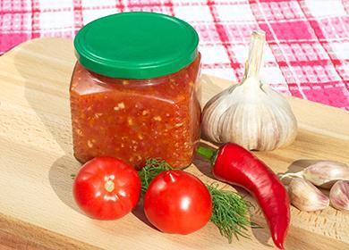 Буркана с лют сос и зеленчуци