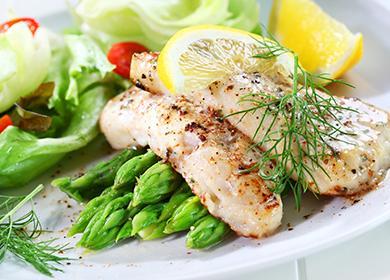 Ryby s chřestem a citronem