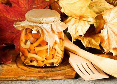 Nakládané medové houby ve sklenici
