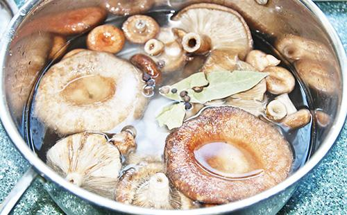 Keittäminen sieniä