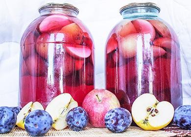 Paistetut omenat ja luumut