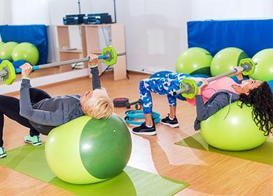 Fitness míčová cvičení