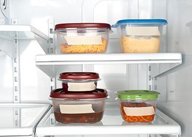 Zásobníky na jídlo v lednici
