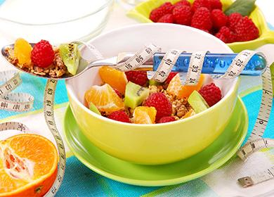 Мюсли с отслабване на плодове