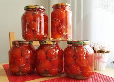 Консервирани домати с чесън