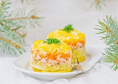 Красива салата с бутер
