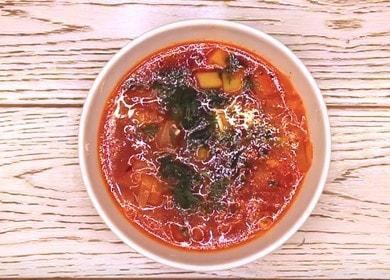 Vydatný a chutný vegetariánský boršč: recept s fotografiemi krok za krokem.