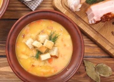Вкусна пушена грахова супа: рецепта със снимки и видеоклипове.