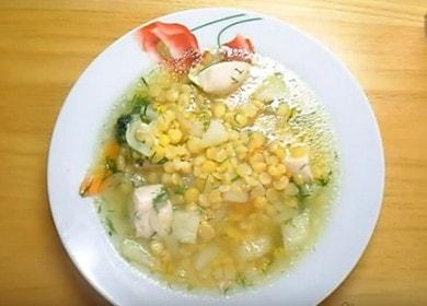 Ароматна грахова супа с пилешко месо: приготвена по рецептата със снимка.