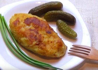 Vynikající recept na bramborové řízečky: vařte s fotografiemi krok za krokem.