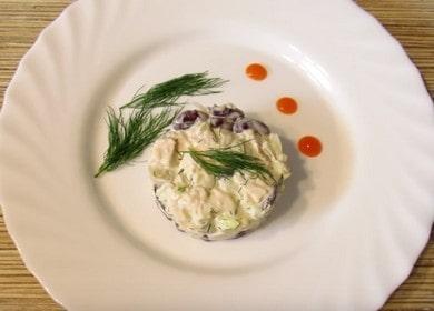 Lahodný salát s uzeným kuřecím masem a fazolemi: recept krok za krokem s fotografiemi a videi!