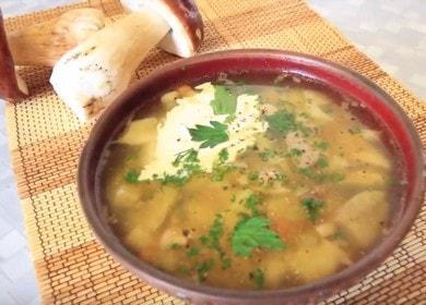 Voňavá hříbková polévka: recept s fotografiemi krok za krokem.