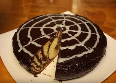 Вкусна торта Зебра в бавна готварска печка: рецепта със снимка.
