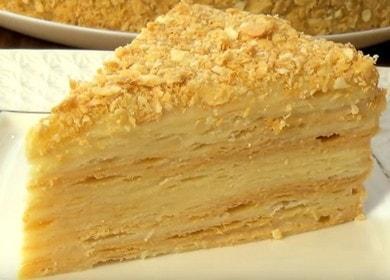 Vaření Napoleonova dortu doma s receptem s fotografií.