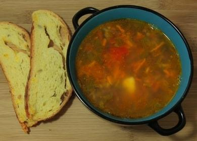 lahodná polévka z červené fazole z červených fazolí: recept s fotografiemi a videi krok za krokem!