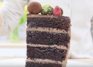 Nejchutnější čokoládový sušenkový dort: krok za krokem recept s fotografií.