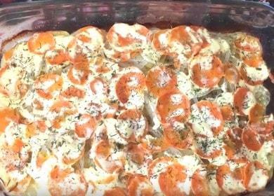 Вкусна розова сьомга с картофи на фурна: рецепта със стъпка по стъпка снимки и видеоклипове.