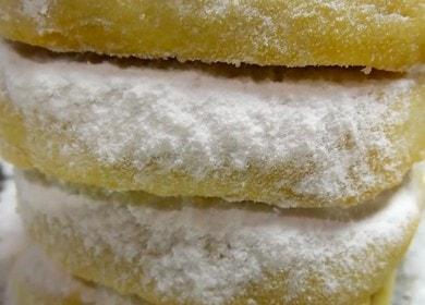 Vaření křupavých sušenek na margarínu podle receptu s fotografií.