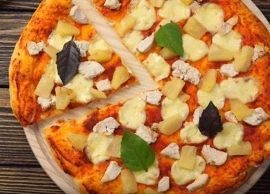 Пица с ананас и пиле - рецепта вкъщи