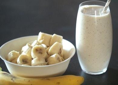 Lahodný koktejl s banánem a mlékem: vaříme podle receptu s fotografií.