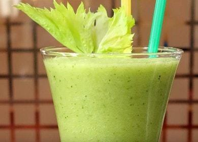 Vaření zdravého smoothie s celerem podle receptu s fotografií.
