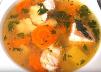 Lahodná domácí rybí polévka: vařte podle receptu s fotografií.