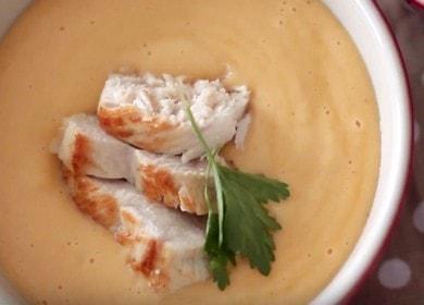 Nabídka sýrová polévka s kuřetem: recept s fotografiemi a videy.