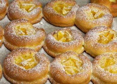 Ние приготвяме оригинални извара бисквитки у дома според рецептата със снимка.