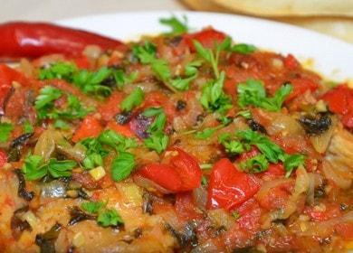 Vaříme gruzínské chakhokhbili z kuřecího masa: krok za krokem recept s fotografií.