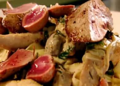 Fricassee заек по стъпка по стъпка рецепта със снимка