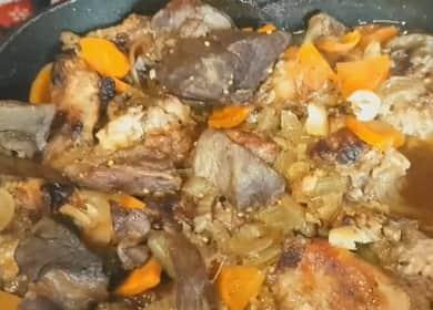 Вкусен и сочен задушен заек със зеленчуци
