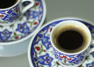 Турско кафе по стъпка по стъпка рецепта със снимка