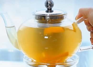 Zázvorový čaj s citronem a medem podle receptu krok za krokem s fotografií