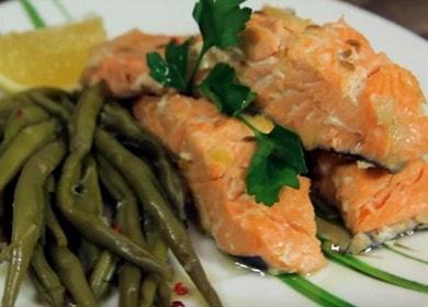 nejjemnější dušený růžový losos v pomalém hrnci: vaříme podle receptu s fotografií.